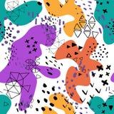 Encabe?amento criativo da arte da garatuja com formas e texturas diferentes collage Fundo abstrato dos desenhos animados do respi ilustração royalty free