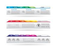 Encabeçamento do Web site com menu da navegação Fotografia de Stock Royalty Free