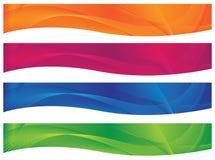 Encabeçamentos/bandeiras ondulados - Brights Fotos de Stock