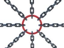 encadenamiento 3d y círculo Imagen de archivo libre de regalías