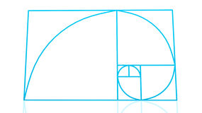 Encadenamiento de Fibonacci Fotografía de archivo