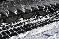 Encadenamiento de la correa eslabonada de la nieve Foto de archivo