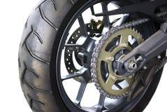 Encadenamiento de la motocicleta imagen de archivo