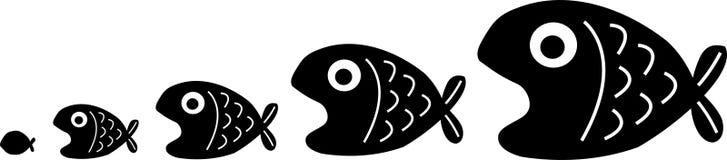 Encadenamiento de los pescados libre illustration
