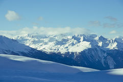 Encadenamiento de montaña imagen de archivo