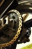 Encadenamiento de Motobike Fotografía de archivo libre de regalías