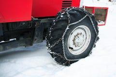 Encadenamiento de neumático Fotos de archivo