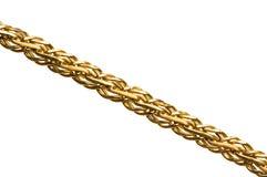 Encadenamiento de oro aislado imagen de archivo libre de regalías