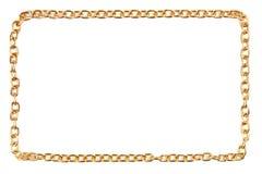 Encadenamiento de oro como marco Fotografía de archivo libre de regalías