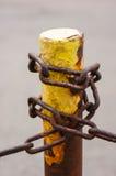 Encadenamiento del metal Fotografía de archivo libre de regalías