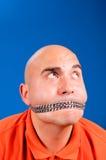Encadenamiento en la boca Fotografía de archivo libre de regalías