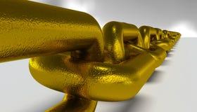 Encadenamiento largo del oro Foto de archivo libre de regalías