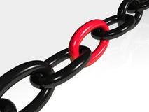 Encadenamiento negro y rojo libre illustration