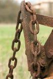 Encadenamiento oxidado Imagen de archivo