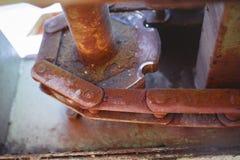 Encadenamiento oxidado Foto de archivo libre de regalías