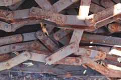 Encadenamiento oxidado Fotos de archivo