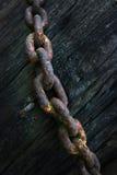 Encadenamiento viejo oxidado Fotografía de archivo libre de regalías