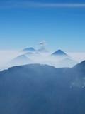 Encadenamiento volcánico guatemalteco fotografía de archivo libre de regalías