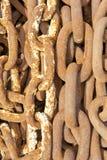 Encadenamientos de ancla oxidados imágenes de archivo libres de regalías