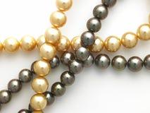 Encadenamientos de la perla imagen de archivo libre de regalías