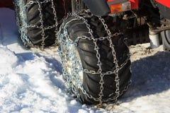 Encadenamientos de nieve Foto de archivo libre de regalías