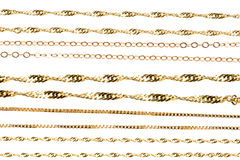 Encadenamientos del oro Fotografía de archivo