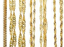 Encadenamientos del oro Foto de archivo libre de regalías