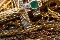 Encadenamientos del oro Fotos de archivo libres de regalías