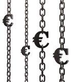 Encadenamientos euro Imágenes de archivo libres de regalías