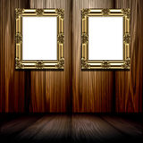 encadre le bois de pièce d'or Photo stock