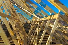 Encadrement à la maison de construction de Newl Images libres de droits