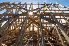 Encadrement à la maison de construction de Newl Images stock