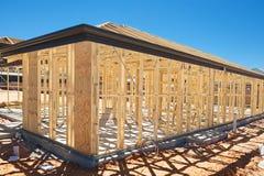 Encadrement à la maison neuf de construction photo stock