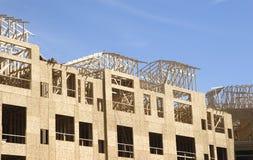 Encadrement de construction d'appartement photo libre de droits