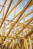 Encadrement en bois de bâtiment Photos libres de droits