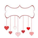 Encadrez pour le jour de Valentine Images libres de droits