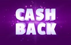 Encaissez de retour la bannière de programme de récompense d'argent illustration stock