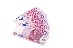 encaissez l'euro corde de note d'argent de l'orientation cent des euro cinq photos libres de droits