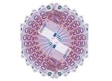 encaissez l'euro corde de note d'argent de l'orientation cent des euro cinq illustration libre de droits