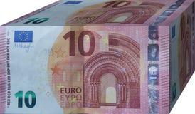 encaissez l'euro corde de note d'argent de l'orientation cent des euro cinq Photo libre de droits