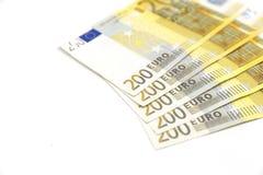 encaissez l'euro corde de note d'argent de l'orientation cent des euro cinq Image libre de droits
