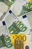 encaissez l'euro corde de note d'argent de l'orientation cent des euro cinq euro fond d'argent liquide Euro billets de banque d'a Photographie stock