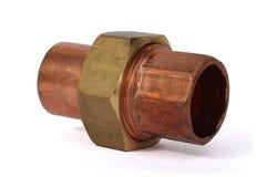 Encaixe de cobre da união fotografia de stock