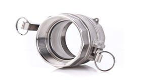Encaixe de tubulação rosqueado do aço inoxidável Fotografia de Stock