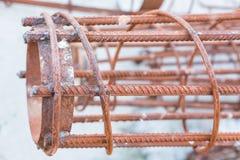 Encaixes de aço para a construção e a construção Foto de Stock Royalty Free