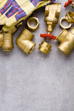 Encaixes de bronze fotografia de stock royalty free