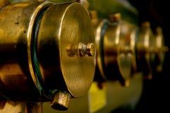 Encaixes de bronze da água Imagens de Stock
