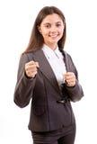 Encaixotamento da mulher de neg?cios Imagens de Stock Royalty Free