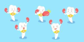 Encaixotamento do desgaste de dentes do leite dos desenhos animados Fotos de Stock Royalty Free