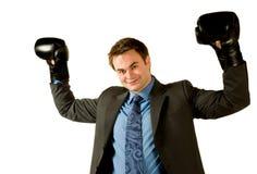 Encaixotamento do homem de negócios Foto de Stock
